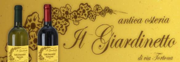 l'etichetta dell'antica osteria il giardinetto di via tortona di milano