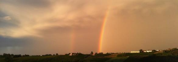 Arcobaleno in Val Tidone (foto di Maria Teresa Gaiaschi)